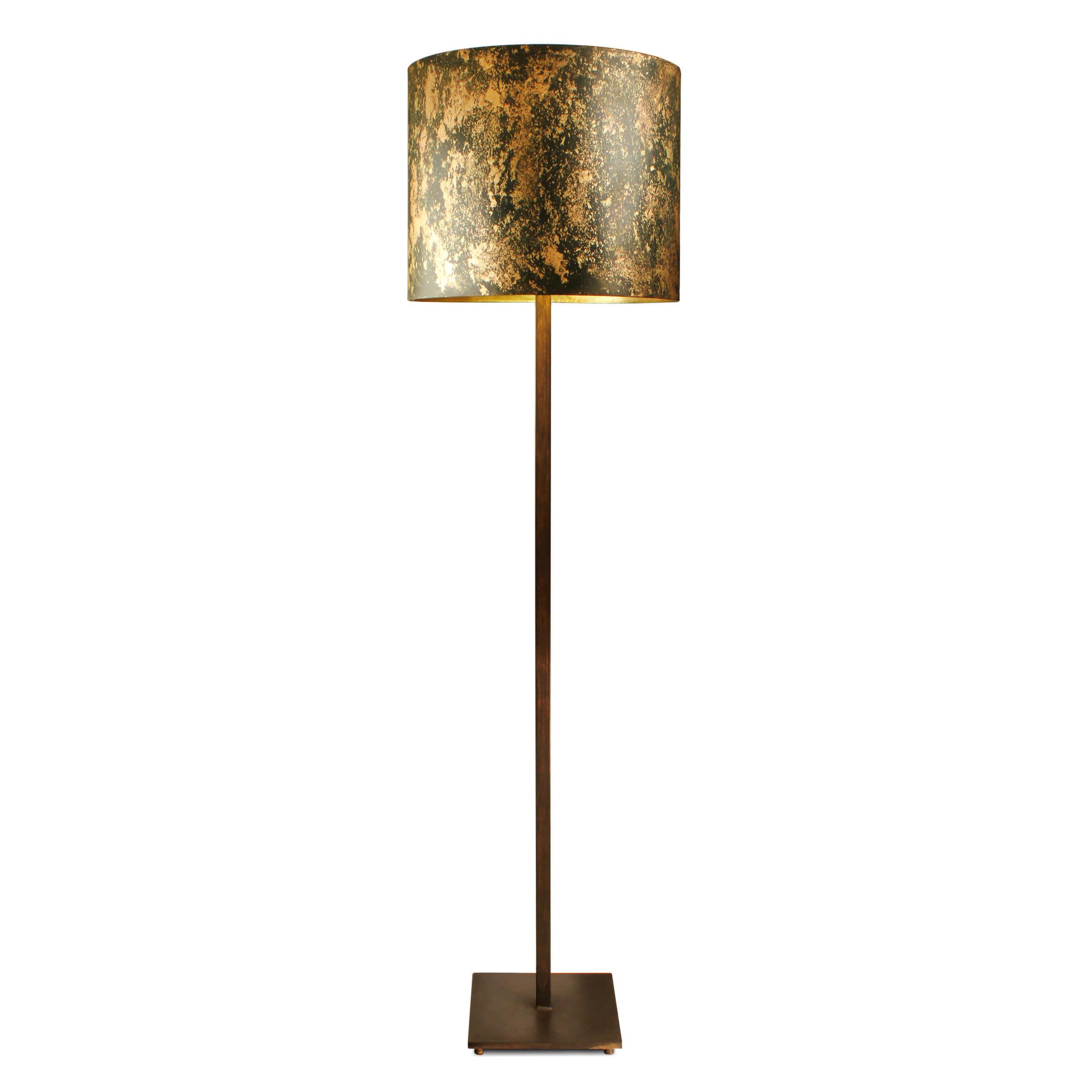 round shade furniture shape lamp home black floor ideas drum featuring base splendid modern color copper of kopyok lamps design pretty metal