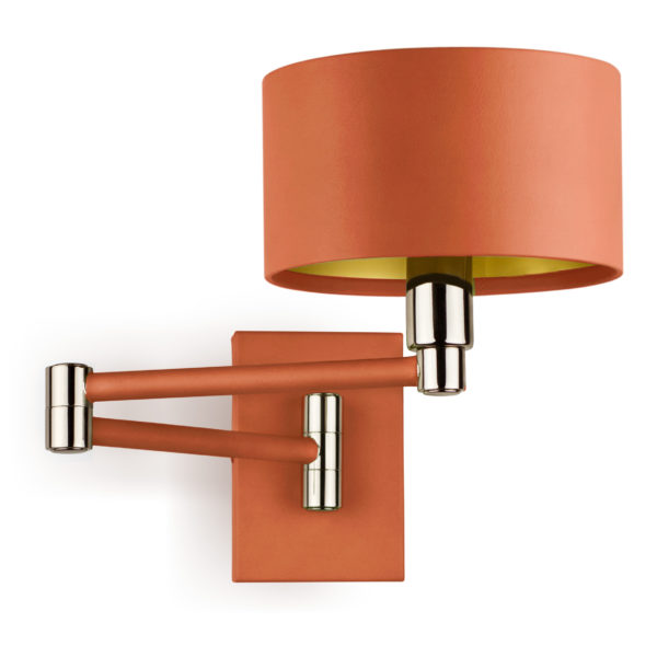 Leather wall lights villaverde london villaverde london snodo orange leather wall light square aloadofball Choice Image